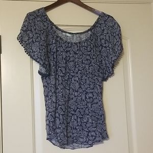 NEW Maurices Paisley Print Top